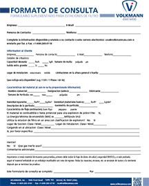 Volkmann Product Inquiry form
