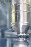 Doble valvula de valvula de descarga y bisqueo para polvos