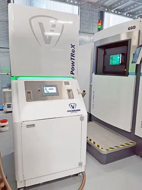 PowTReX metal powder system from Volkmann for 3D printing additive manufacturing